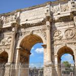 Turismo na Itália: Arco Constantino em Roma, Itália