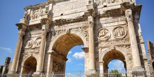 Arco Constantino em Roma, Itália