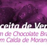 Pudim de Chocolate Branco com Calda de Morango
